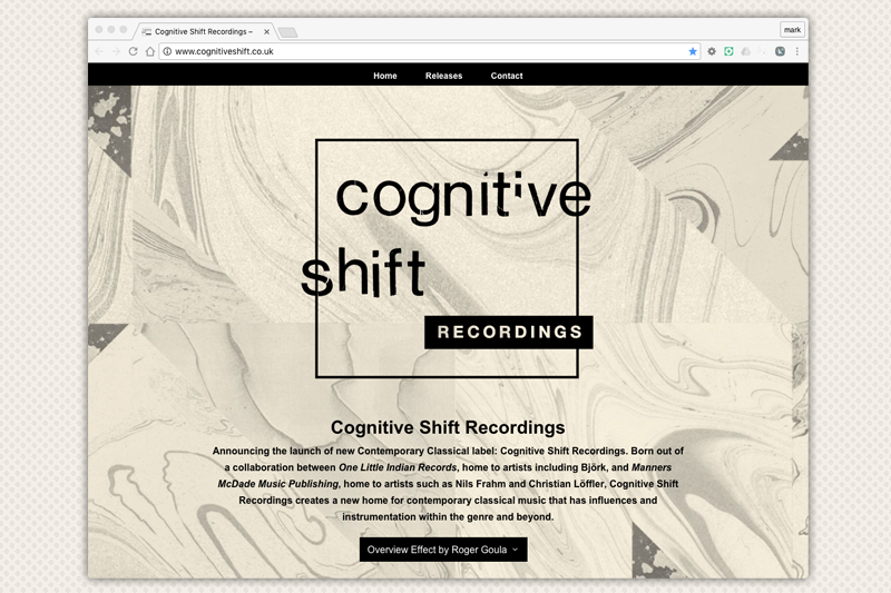 Cognitive Shift Recordings Website